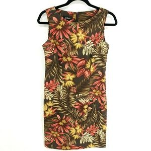 AGB Dress Tropical Floral Sleeveless Sheath Dress